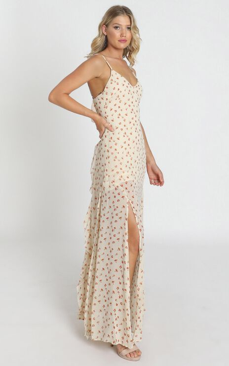 Devin Dress In Cream Floral