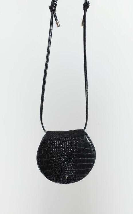 Peta And Jain - Venice Saddle Bag In Black Croc