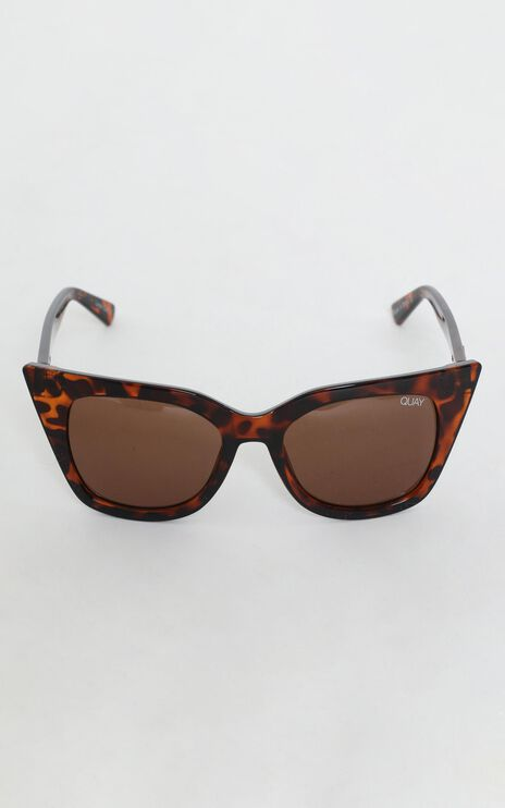 Quay - Harper Sunglasses in Tort and Brown Lens