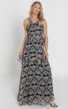 Binky Dress in Black Print