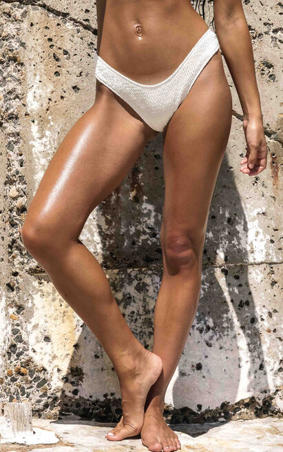 Anais Bikini Bottom in Milk - 6 (XS), Cream, hi-res image number null
