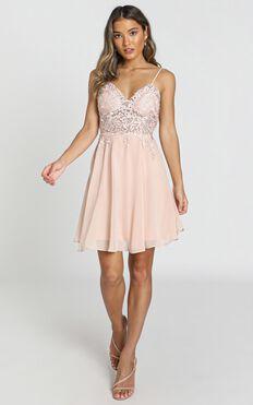 Tough Act dress in blush