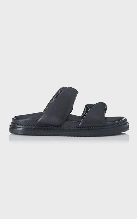 Alias Mae - Paris Slides in Black Leather