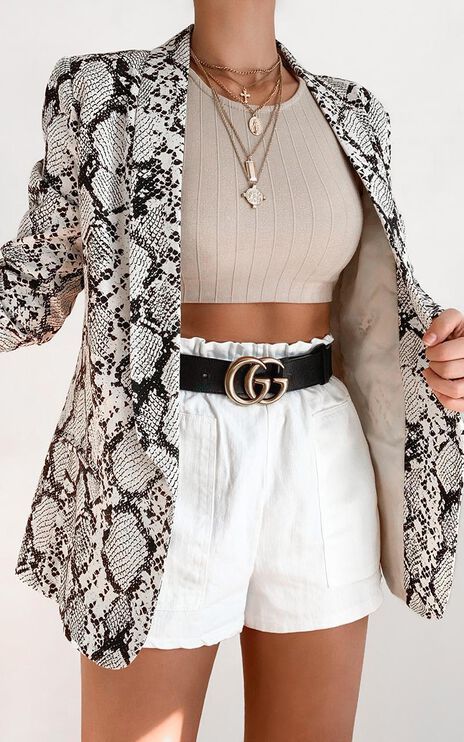 Gloria Jacket In Snake Print