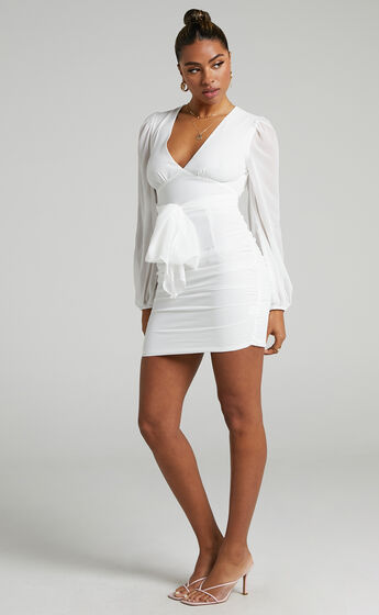 Party Just For Fun Dress in White