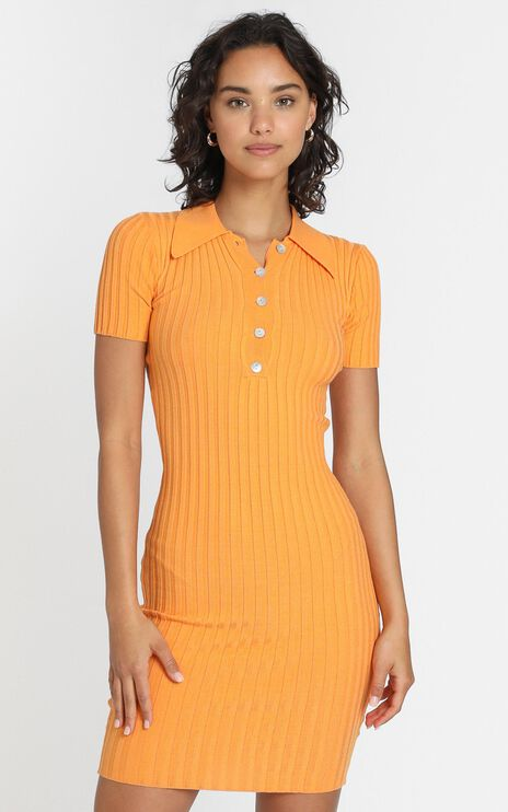 Callen Knit Dress in Mango