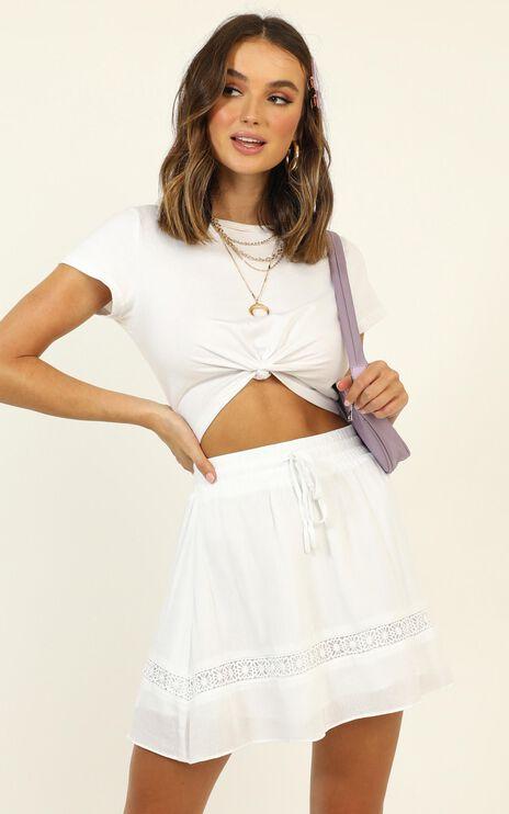 Let Summer Begin Skirt In White