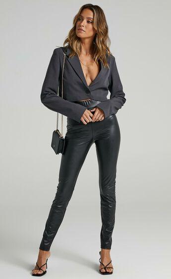 Sinead Pants in Black Leatherette