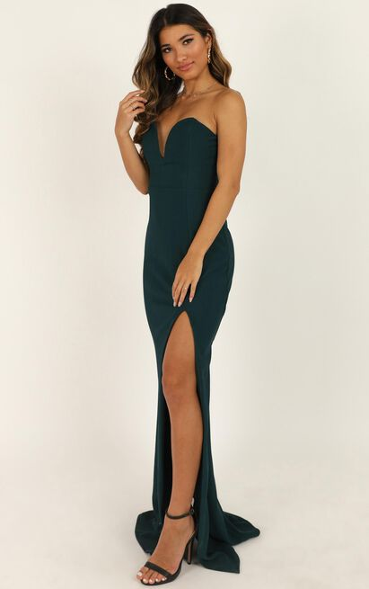 Forgiving You Maxi Dress In emerald - 14 (XL), Green, hi-res image number null