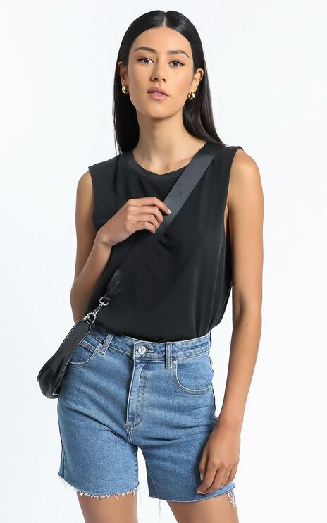 Gia Tee in Washed Black