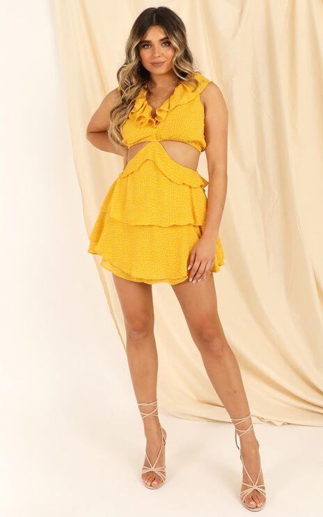 Way You Look Dress In Mustard Spot