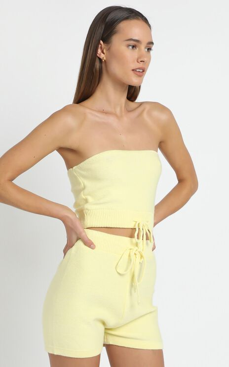 Venus Two Piece set in Pastel Yellow