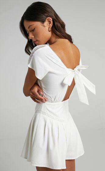 Emilija Playsuit in White