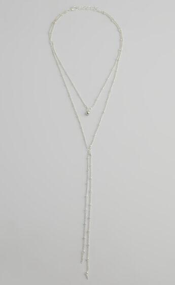 Estella Drop Necklace in Silver