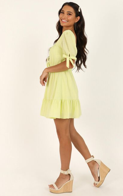 Small Moments Dress in citrus - 20 (XXXXL), Green, hi-res image number null
