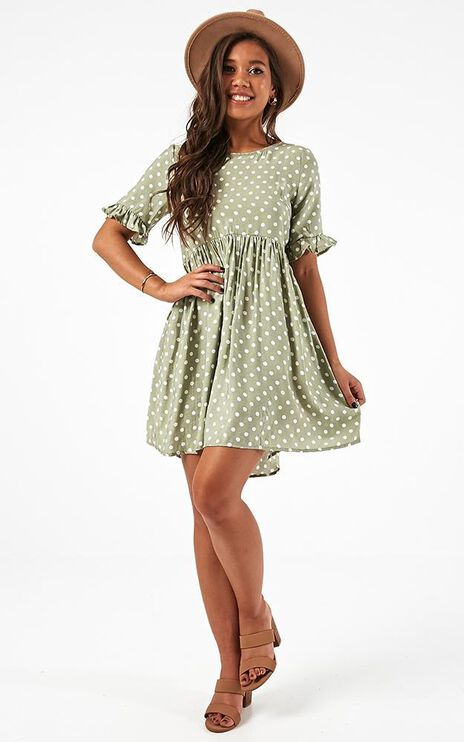 Making You Proud Dress In Sage Spot