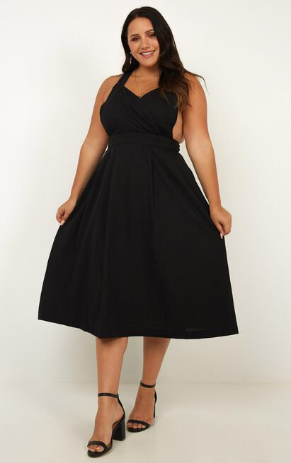 Zone Out Dress in black - 20 (XXXXL), Black, hi-res image number null