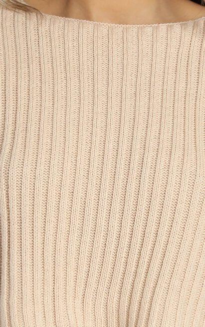 Born Influencer Ribbed Knit in mocha - S/M, Mocha, hi-res image number null