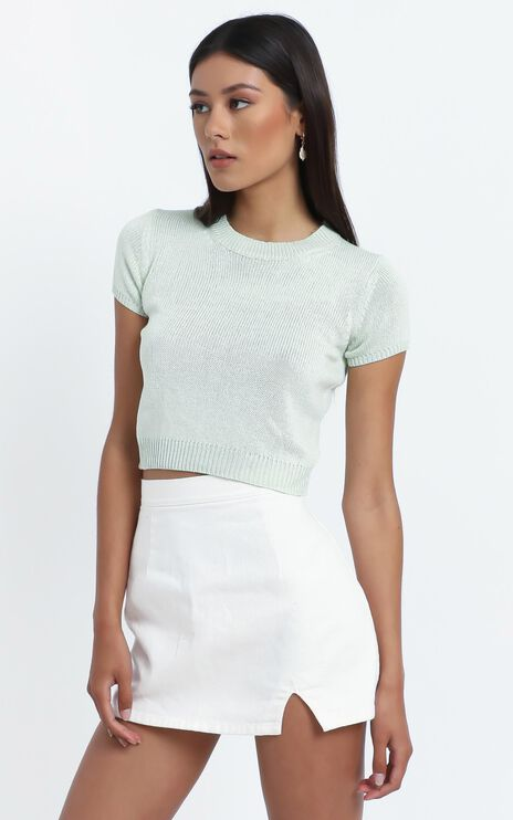Charlton Knit Top in Sage