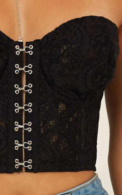 Still The Real Me Top In black lace - 20 (XXXXL), Black, hi-res image number null