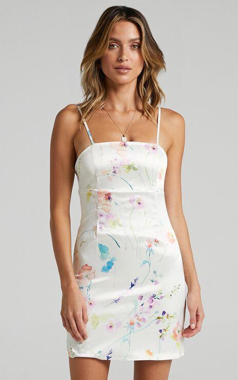 Stefanie Dress in Watercolour Floral