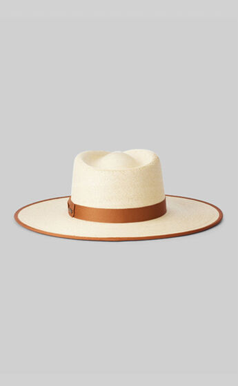 Brixton - Jo Straw Rancher Hat in Natural