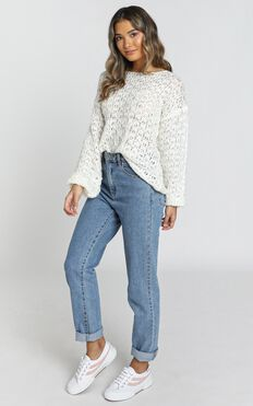 Briony Knit Jumper in Ivory