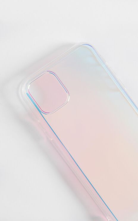 Holographic iPhone Case in Rainbow Gradient
