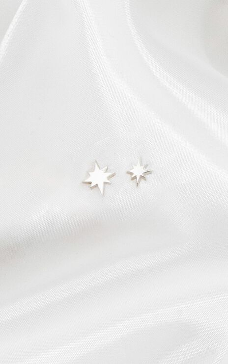 Midsummer Star - Celestial Stud Earrings In Silver