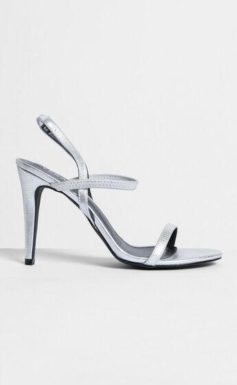 Verali - Obsess Heels In silver lizard