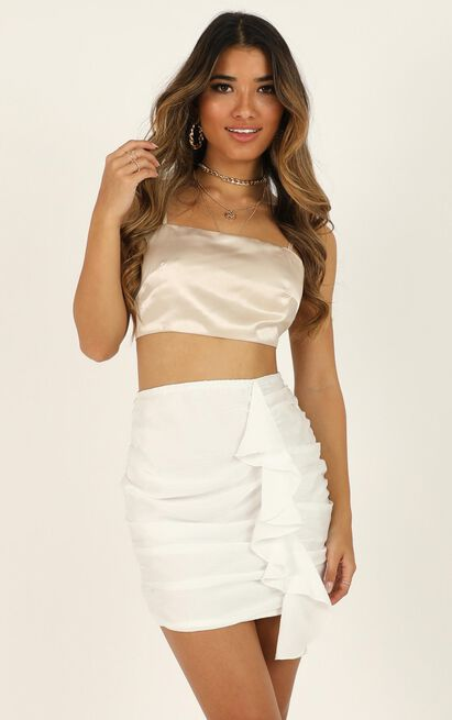 Chasing Feels skirt in white - 18 (XXXL), White, hi-res image number null