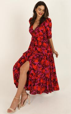 Waiting So Long Dress In Pink Floral