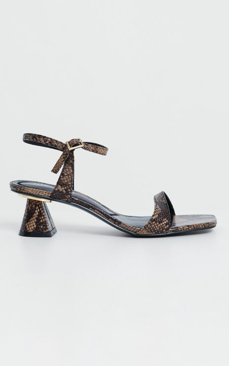 Therapy - Holly Heels in Snake Print