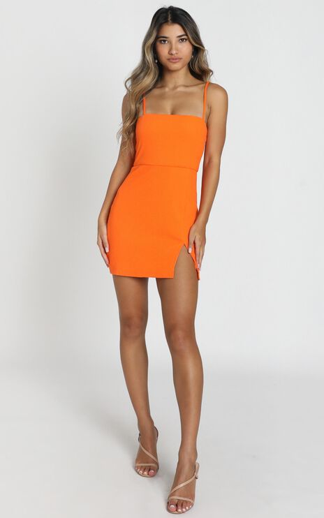 Island Babe Dress in Orange