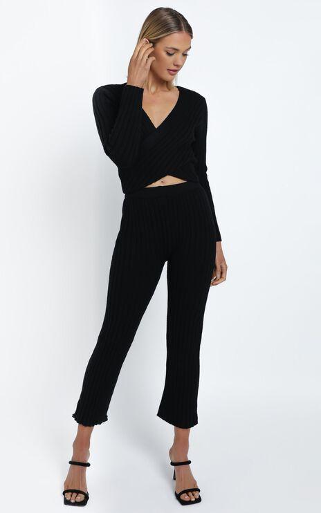 Alpha Knit Pants in Black