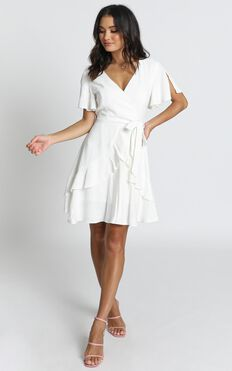 Treat You Right Dress In White