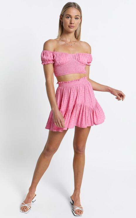Fredi Two Piece Set in Pink
