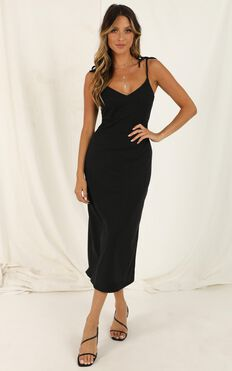 Wont Look Back Dress In Black