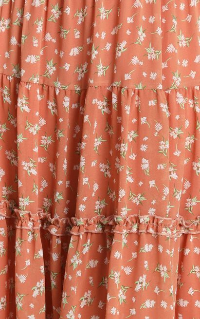 In Touch Skirt in rust floral - 14 (XL), Rust, hi-res image number null