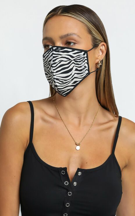 The People Vs X Zebra Face Mask