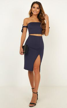 Moving Parts Two Piece In Navy