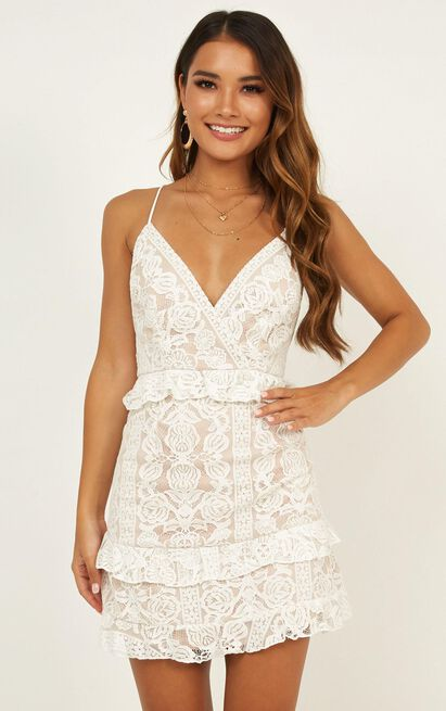 Roaming Free Dress In White Lace - 16 (XXL), White, hi-res image number null