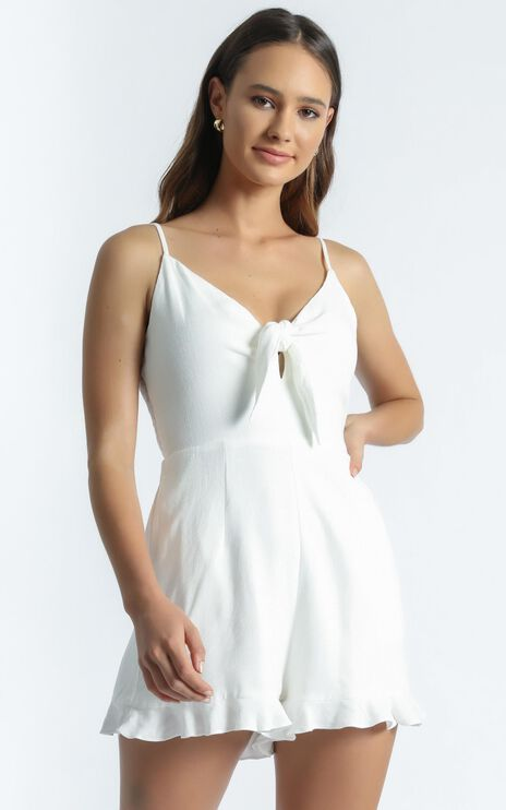 Jasmina Playsuit in White