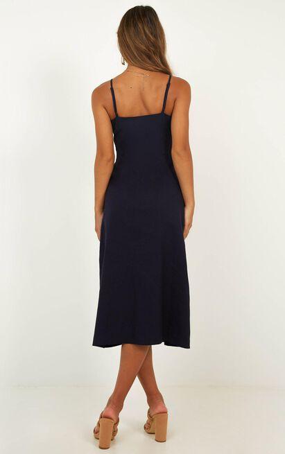 Rain On Me Dress In navy linen look - 20 (XXXXL), Navy, hi-res image number null