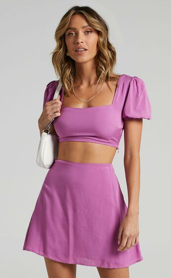 Artemis Two Piece Set in Orchid