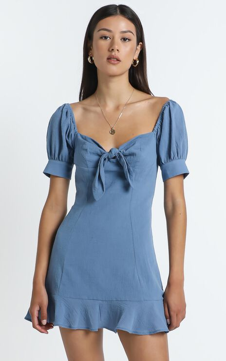Rosa Dress in Blue