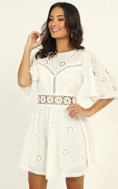 The Night Is Young Dress In White Lace