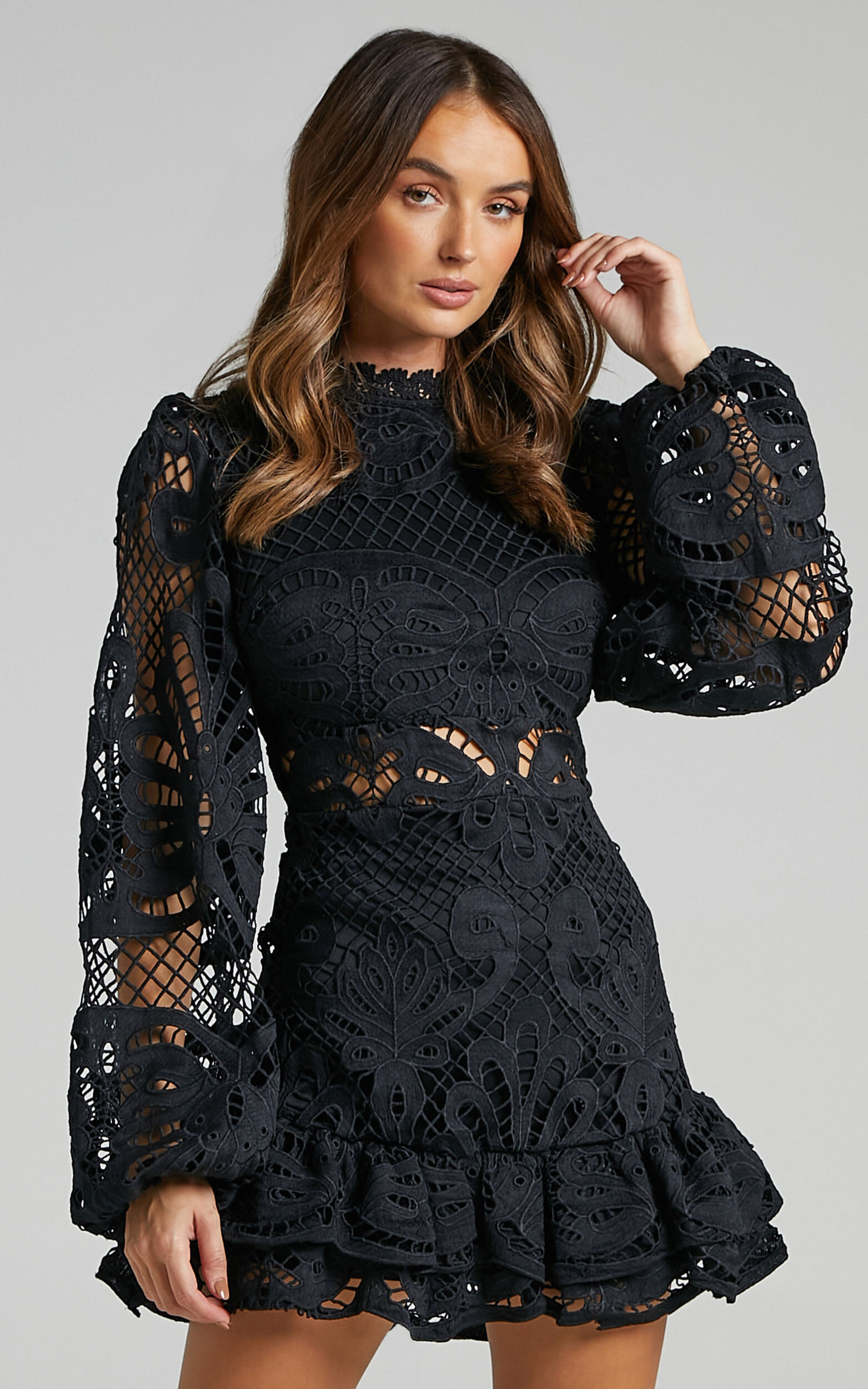 Kiss Me Now Dress in Black Lace - 06, BLK1, super-hi-res image number null