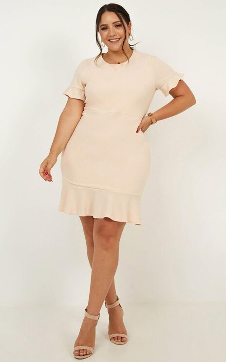 Authority Dress In Nude
