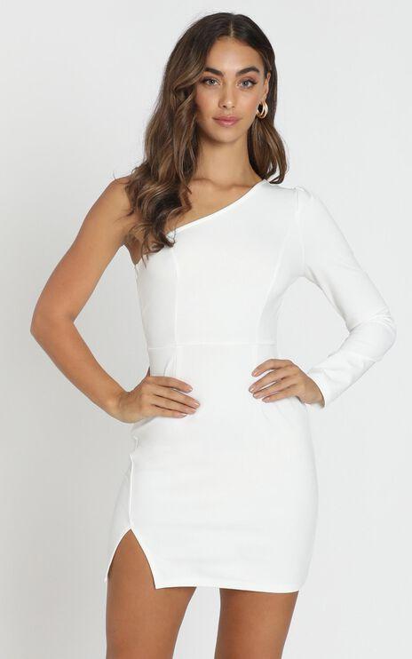 Kassie One Shoulder Mini Dress in white